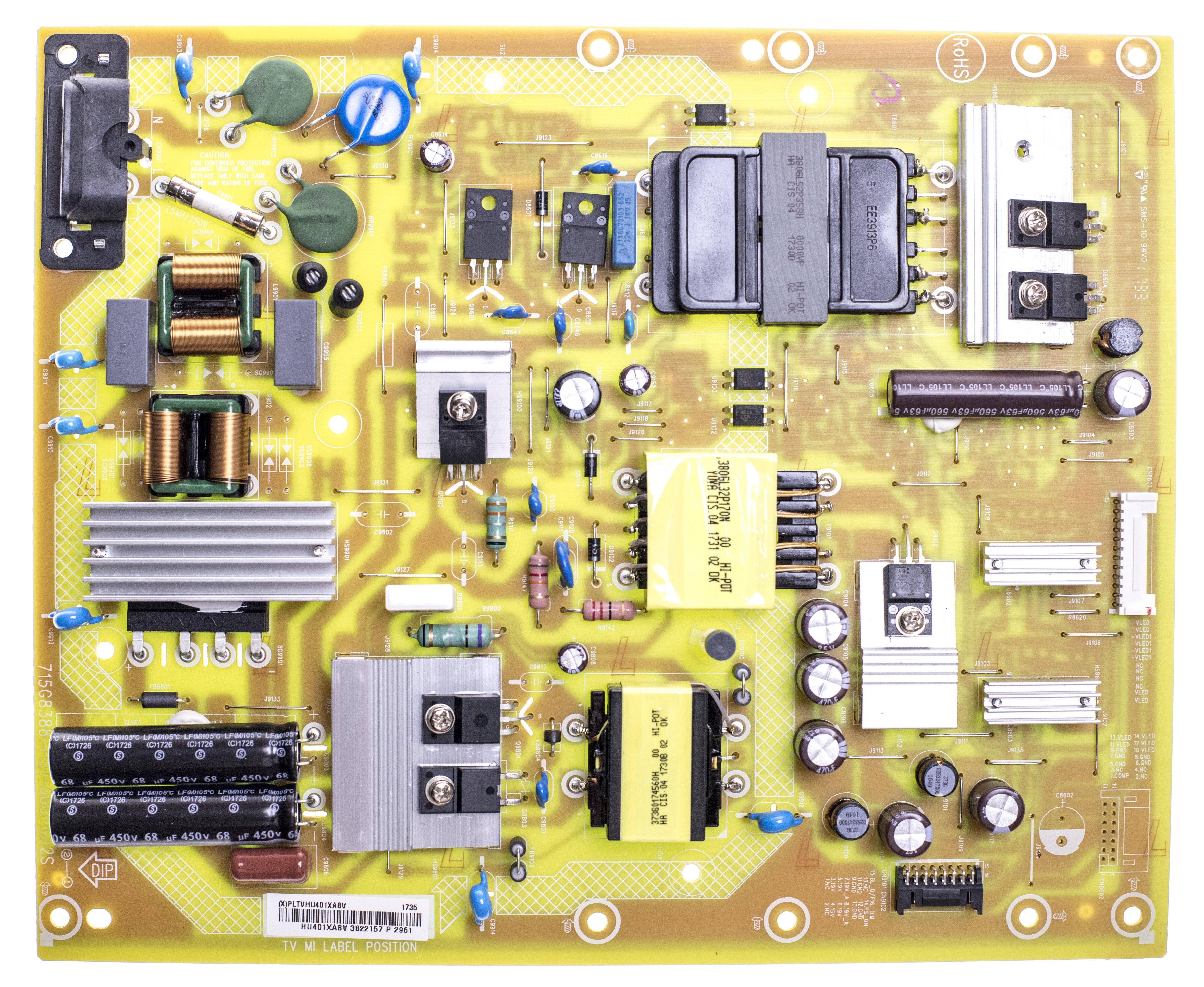 Vizio PLTVHU401XABV Power Supply Board for D55un-E1