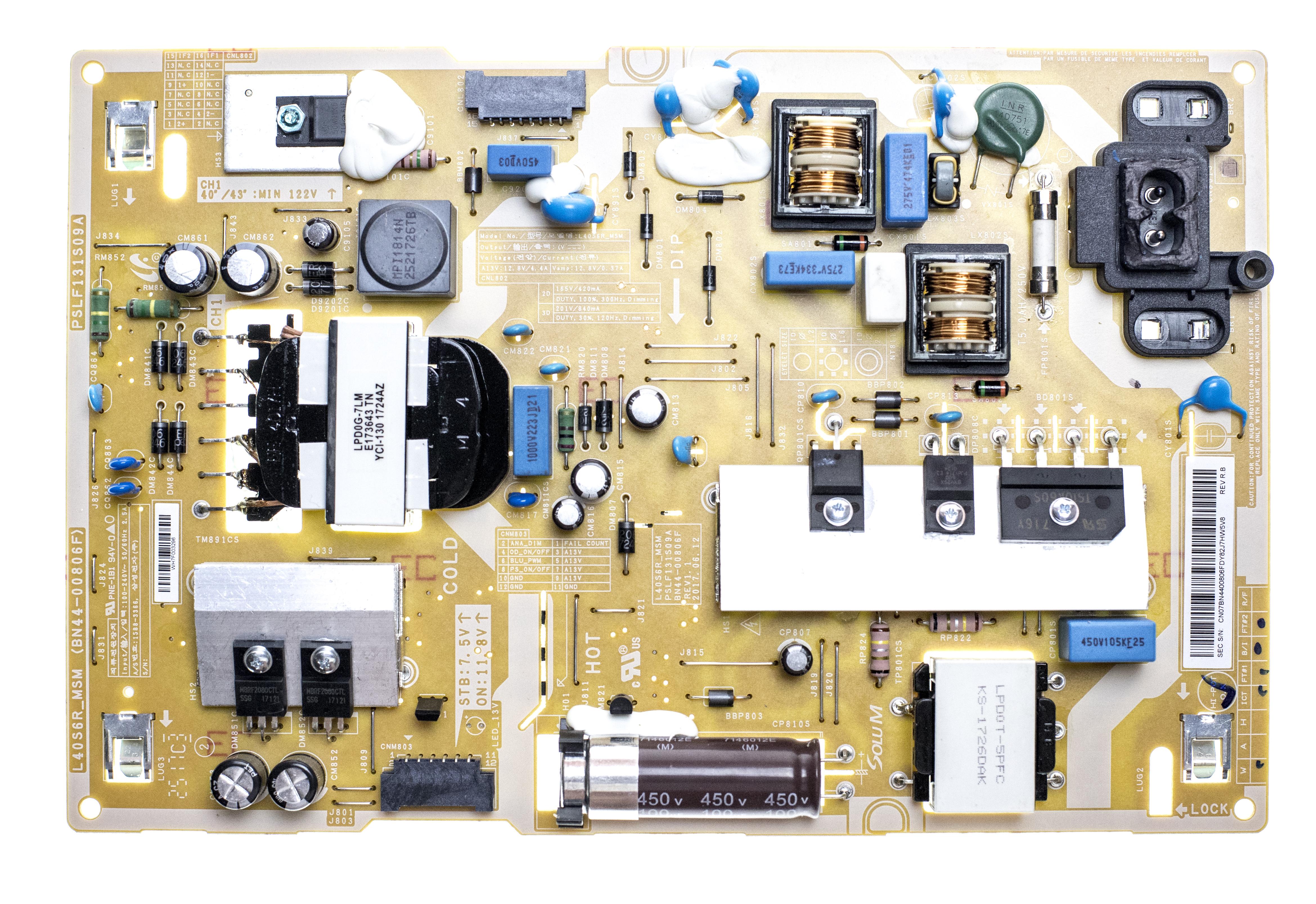 Samsung Bn44 00806f Power Supply Led Driver Board Tekbyus Circuit