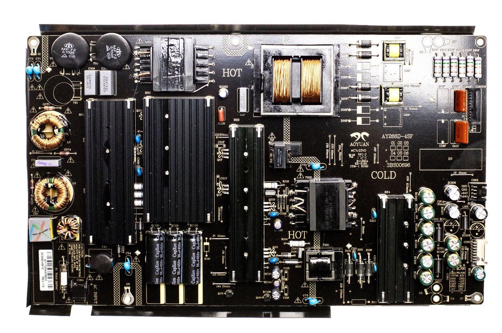 RCA Sceptre AY268D-4SF10 3BS00696 Power Supply Board for RTU7575-B U750CV-U