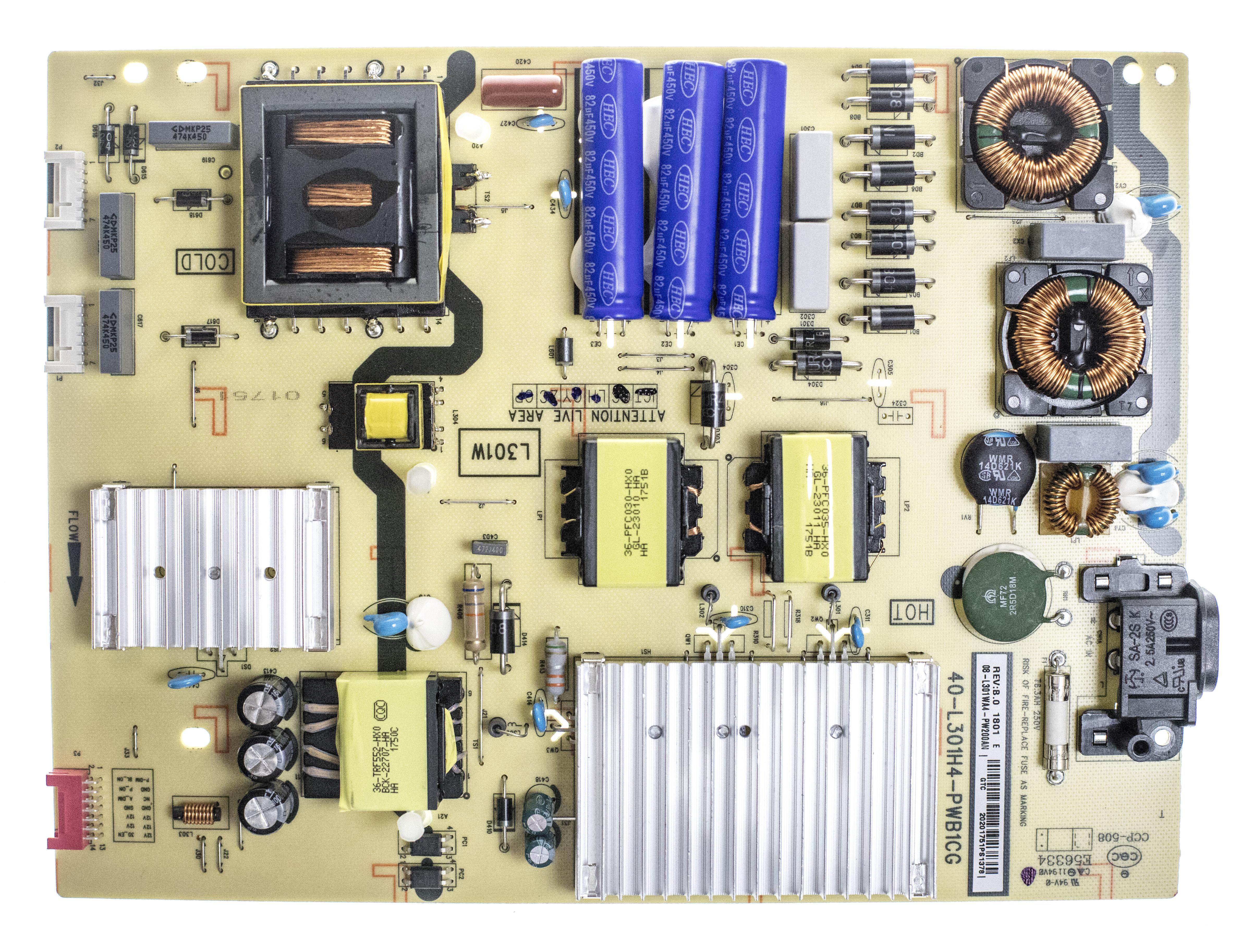 TCL 08-L301WA4-PW200AN (40-L301H4-PWB1CG) Power Supply 65S405 65S401